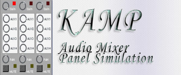 KAMP - Audio Mixer Panel Simulation